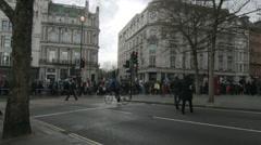 Timelapse of protestors in London Stock Footage