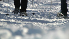 Snow shoe 03 Stock Footage