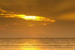 Beautiful sunrise sky with clouds Stock Photos