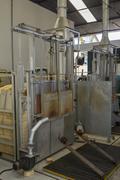 Lead crystal furnace - stock photo