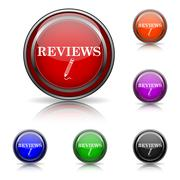 Reviews icon Stock Illustration