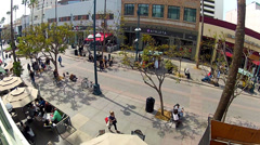High And Wide View Of 3rd Street Promenade- Santa Monica California Stock Footage