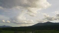 Big Sky Cloud Timelapse over Canada Wilderness Landscape Stock Footage