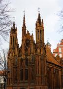 church of st. anne, vilnius, lithuania - stock photo