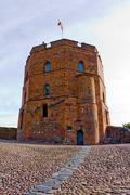 Gedeminas castle tower, lithuania Stock Photos