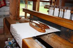 old loom - stock photo