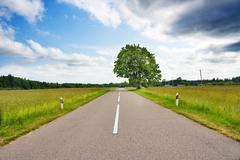rural roads - stock photo