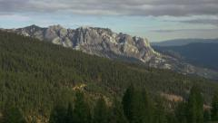 Castle Crags Overlook Forest Mountain Time Lapse Stock Footage