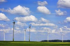 field of wind power - stock photo