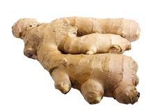 ginger root, isolated - stock photo