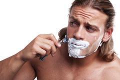 time for shaving - stock photo