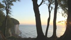 Special Timelapse - Complete Sunrise At Chalk Cliff And Ocean - Glowing Horizon Stock Footage