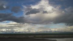 Copper River Distant Mountains Alaska Wrangell St Elias Timelapse Bi Stock Footage