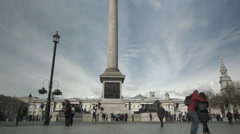 Nelsons Column Timelapse Stock Footage