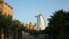 DUBAI, UNITED ARAB EMIRATES - Burj al Arab Hotel Stock Footage