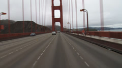 Crossing the Foggy San Francisco Golden Gate Bridge 101 North 2nd To Stock Footage