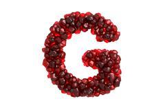 Stock Illustration of Pomegranate letter G on white background