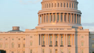 Stock Video Footage of US Capitol Building at sunset, Washington DC