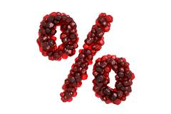 Stock Illustration of Pomegranate symbol % on white background