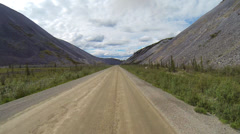 Dempster Highway Driving POV Dragon Valley part 1 of 3 Stock Footage