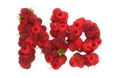 Raspberry symbol on white background - stock illustration