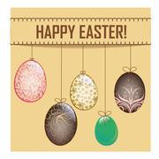 easter eggs background designs - stock illustration