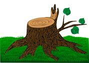 Stock Illustration of stump