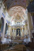 interior of the church, kaunas, lithuania - stock photo