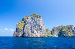 koh phi phi national park in krabi, thailand - stock photo
