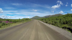 Driving POV Timelapse Dempster Highway Yukon Territory Canada Stock Footage