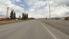 Driving POV Tok Alaska South Stock Footage