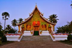 the haw pha bang temple - stock photo