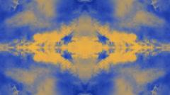 Laajentaminen Mind Portal peilattu heijastus tausta sininen ja kulta Arkistovideo