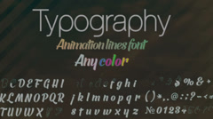 Typographic Font Stock After Effects