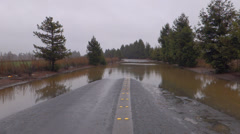 Flooded Rural Highway Stock Footage