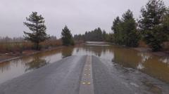 Flooded Rural Highway - stock footage