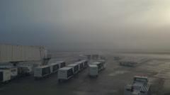Fogged In Heavy Fog Runway Airline Juneau Alaska Stock Footage