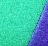 colorful texture cellulose foam sponge background - stock photo