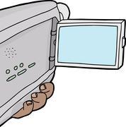 Blank camcorder screen Stock Illustration