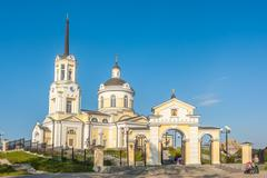 Temple of the Blessed Virgin Assumption. Russia Stock Photos