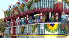 Poppa Joe's SS Endymion float 2014 - stock footage