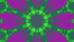 Green Purple Rotational Void Kaleidoscope Stock Footage