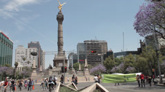 The Angel in Mexico City, Mexico Stock Footage