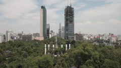 Mexico City wide view Stock Footage