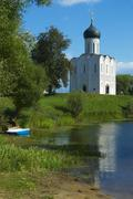 Church of the Intercession on Nerl River - stock photo