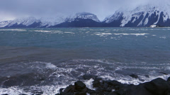 Incoming Winter Storm - Ice in Chilkat Inlet Pyramid Island Stock Footage