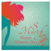 International women's day illustration Stock Illustration