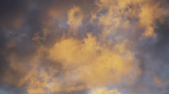 Intense Sunset Cloudscape Time Lapse Faster - stock footage