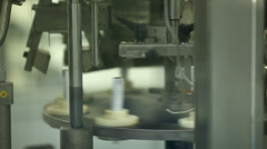 Ointment tube filling machine Stock Footage