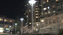 Portland Night -South Waterfront Park - 1 Stock Footage